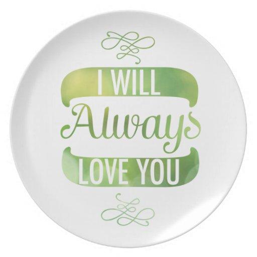 Le amaré siempre platos de comidas