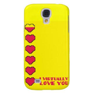Le amo virtualmente los corazones digitales samsung galaxy s4 cover