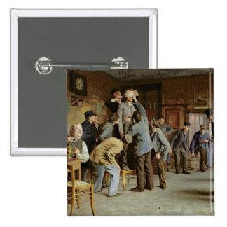 Le Bain de Pieds Inattendu, 1895 Pinback Button