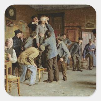 Le Bain de Pieds Inattendu, 1895 Square Sticker