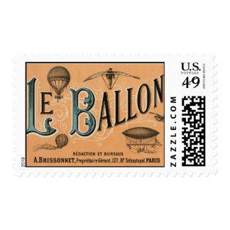 Le Ballon - diario aeronáutico francés 1883 Sellos