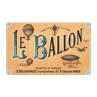 Le Ballon - French aeronautical journal 1883 Canvas Print