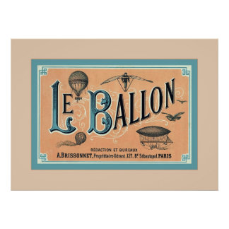 Le Ballon ~ Vintage Advertising Posters