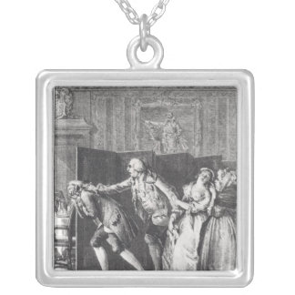Le Baron chassa Candide du Chateau Silver Plated Necklace