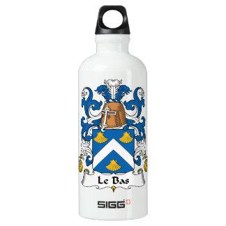 Le Bas Family Crest Aluminum Water Bottle
