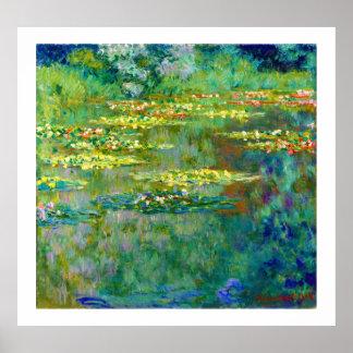 Le Bassin des Nympheas - lirios de agua de Monet Póster