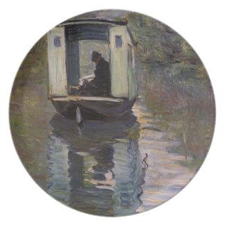 'Le Bateau-atelier' Plate