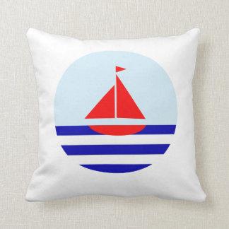 Le Bateau Nautical Print Cushion