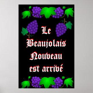 Le Beaujolais Nouveau est arrivé black Print