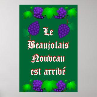 Le Beaujolais Nouveau est arrivé green Print