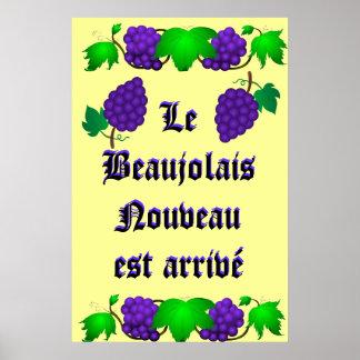 Le Beaujolais Nouveau est arrivé Poster