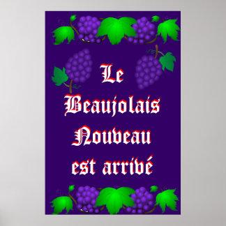 Le Beaujolais Nouveau est arrivé purple Print