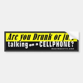 ¿Le beben o apenas hablando en un teléfono móvil? Pegatina Para Auto