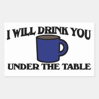 Le beberé debajo de la tabla rectangular pegatinas