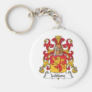 Le Blanc Family Crest Keychain
