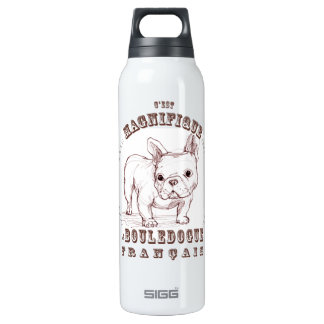 Le Bouledogue Francais 16 Oz Insulated SIGG Thermos Water Bottle