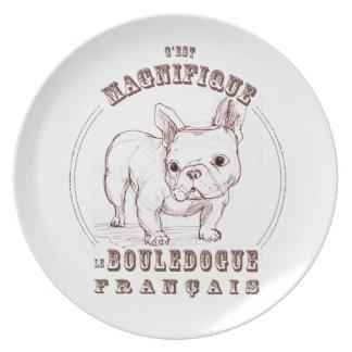 Le Bouledogue Francais Party Plates