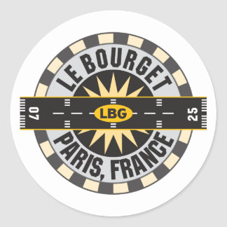 Le Bourget Paris, France LBG Airport Classic Round Sticker