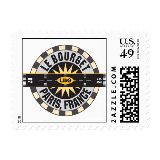 Le Bourget Paris, France LBG Airport Postage