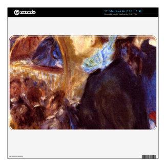 Le Cafe Concert by Pierre Renoir MacBook Air Decal