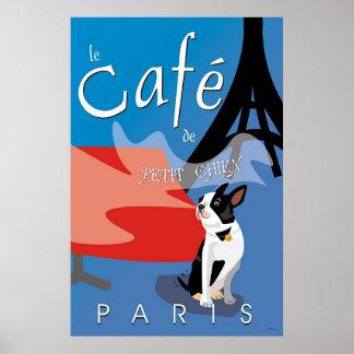 Le Cafe de Chien pequeno, París (bleu) Posters