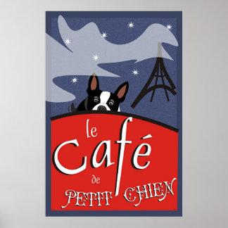 Le Cafe de Petit Chien, Paris (nuit) Poster