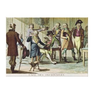 Le Cafe des Incroyables, 1797 Impresiones En Lona Estiradas