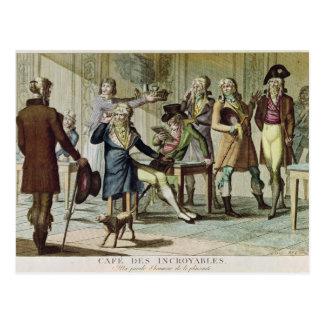 Le Cafe des Incroyables, 1797 Postal