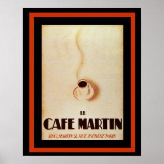 Le Cafe Martin 16 x 20  poster