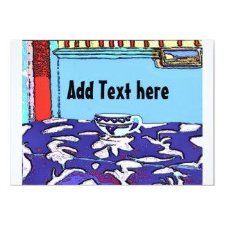 """Le Cafe Matisse, añade el texto aquí Invitación 5"""" X 7"""""""
