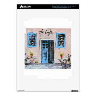 Le Cafe, Palette Knife Painting in Oil iPad 3 Decal
