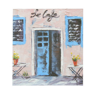 Le Cafe, Palette Knife Painting in Oil Notepad