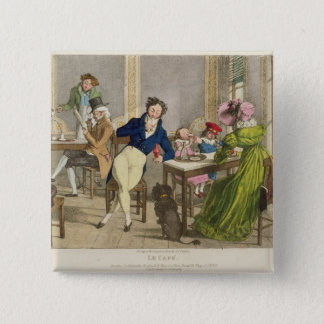 Le Cafe, pub. by Rodwell and Martin, 1820 (colour Button