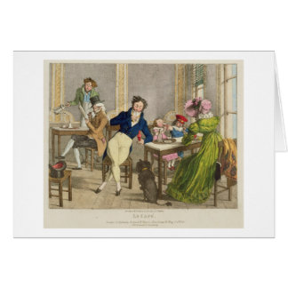 Le Cafe, pub. by Rodwell and Martin, 1820 (colour Card