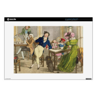 Le Cafe, pub. by Rodwell and Martin, 1820 (colour Laptop Decals