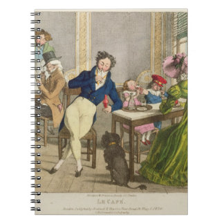 Le Cafe, pub. by Rodwell and Martin, 1820 (colour Spiral Notebook