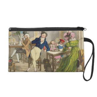 Le Cafe, pub. by Rodwell and Martin, 1820 (colour Wristlet