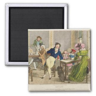 Le Cafe, pub. por Rodwell y Martin, 1820 (color Imán Cuadrado