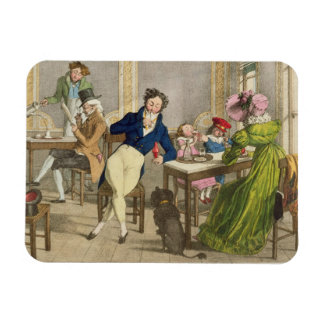 Le Cafe, pub. por Rodwell y Martin, 1820 (color Iman Rectangular