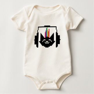 Le cat music junkie baby bodysuit