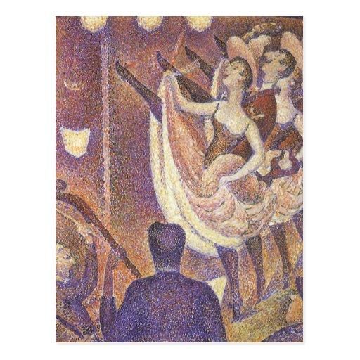 Le Chahut, Poder-Puede por George Seurat Postal