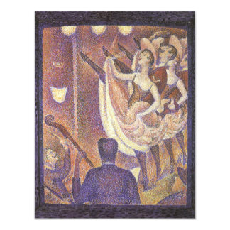 Le Chahut, The Can-Can Dance by Georges Seurat 4.25x5.5 Paper Invitation Card