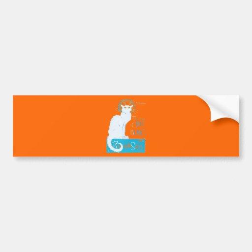 Le Chat Blanc Parody Of Le Chat Noir Bumper Sticker