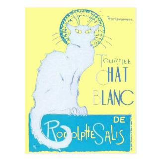Le Chat Blanc Parody Of Le Chat Noir Postcard