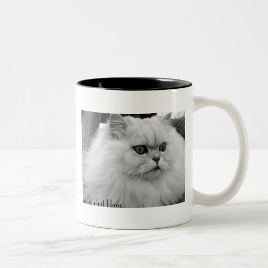 Le Chat Blanc Two-Tone Coffee Mug