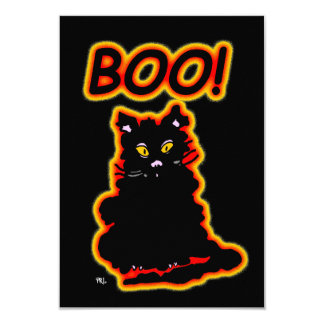 "Le Chat Claude's  Cousin ""Boo"" Party Invitation"