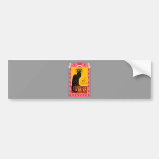 Le Chat D'Amour With Heart And Cherub Border Bumper Sticker