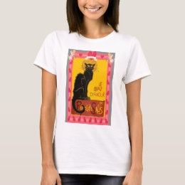 Le Chat D'Amour With Heart And Cherub Border T-Shirt