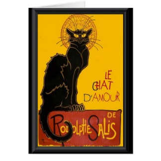 Le Chat D'Amour Love Greeting Card