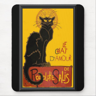 Le Chat D'Amour Love Greeting Mouse Pad